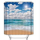 GouuoHi Home Shower Curtain 1pcs Shower Curtains 3D Effect Polyester Opaque Mildewproof Bathroom Amenities Thermal Insulation Durable Partition Curtain (Color : 180180cm, Size : 1)