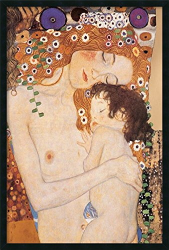 - Framed Art Print, 'Three Ages of Woman - Mother and Child, 1905' by Gustav Klimt: Outer Size 25 x 37