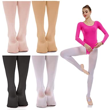 927ddd4d82c4 iMucci Ballet Dance Tights - Convertible and Full Footed Ballerina ...