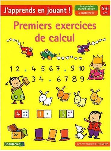 Amazon Fr Premiers Exercices De Calcul Maternelle Grande Section Znu Livres