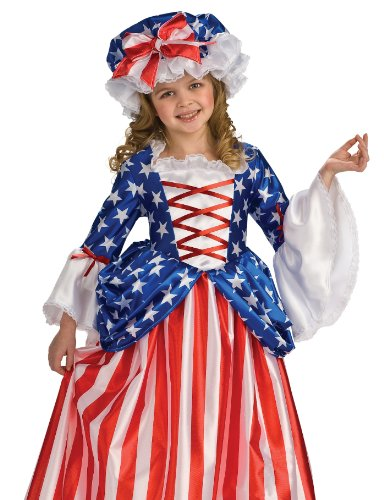 Rubie's Child's Deluxe Betsy Ross Costume, Small