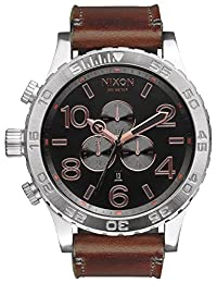 Grey/Rose Gold The 51-30 Chrono Leather Watch by Nixon