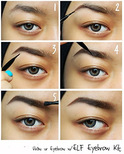 Medium E.L.F Studio Eyebrow Kit Brow Powder /& Wax Duo w Brush