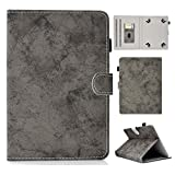 UGOcase Universal 10' Tablet Case, PU Leather Slim Folio Stand Cards Slots Protective Cover for 9.5-10.5' Tablet, Fire HD 10, Galaxy Tab, iPad 6th/5th Gen, RCA, Acer, LG, Dell, Lenovo, Gray