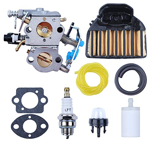 WTA-29 Carburetor with Air Filter Fuel Line Filter Spark Plug for Husqvarna  455E 455 Rancher 460 461 Gas Chainsaw