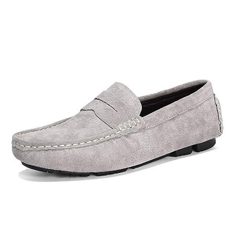 Xiazhi-shoes, Mocasines para Hombres de Casual y Hombre Los Arcos Son Mocasines de