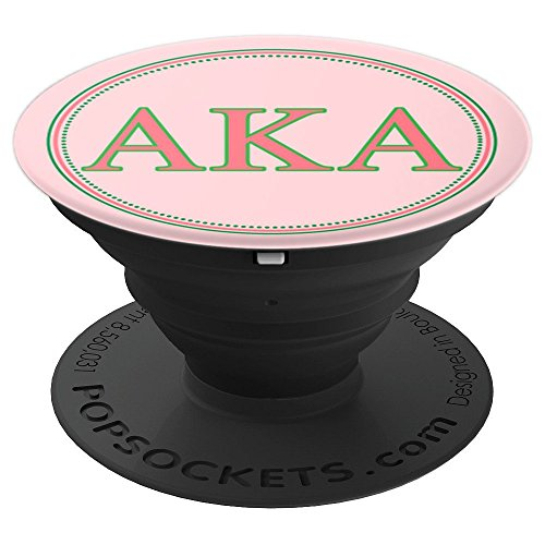 AKA Pearls, Pink Green Style - PopSockets Grip and Stand for Phones and Tablets