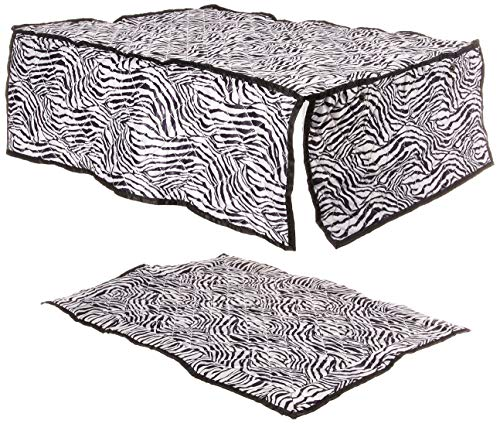 Pet Under Cover Kennel Cover for iCrate, Zebra Print, Small