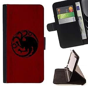 Momo Phone Case / Flip Funda de Cuero Case Cover - Dragón Sigil Targaryen;;;;;;;; - Apple Iphone 5C