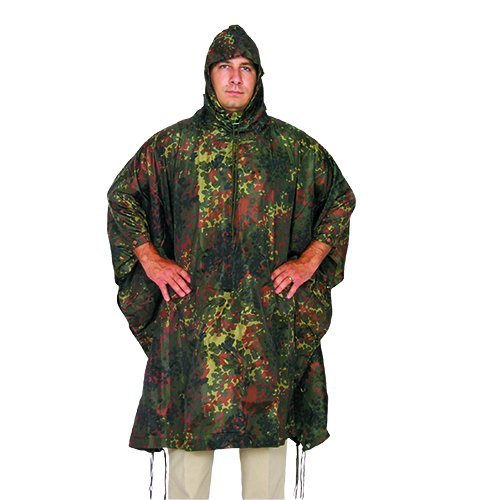 Fox Outdoor Products Ripstop Poncho, German Flectar/Camouflage