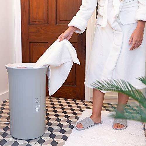 Bucket style towel warmer