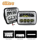 SLDX 5x7′′ Led Sealed Beam(One Pair) Headlight H/Low Beam with Parking Light Replace any 200MM H6054 Style Light -2 Years Warranty