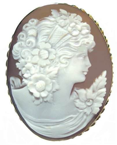 Summer Dream, Cameo Pin Pendant Italian 14k Gold Master Carved Sardonyx Shell Italian ...