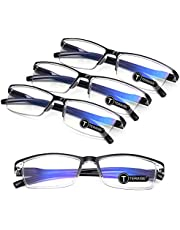 4PCSFashion Anti-blue light Reading Glasses Quality Readers for Men Women