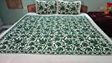 Christmas gift Queen size Embroidered bedspread with matching pillow cases