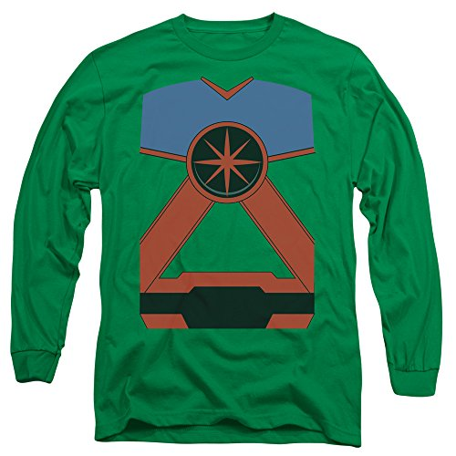 Justice League of America DC Martian Manhunter Costume Adult L-Sleeve T-Shirt ()