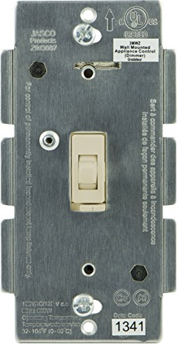 Jasco Z-Wave Dimmer Wall Toggle Switch, No Neutral, Light Almond ()