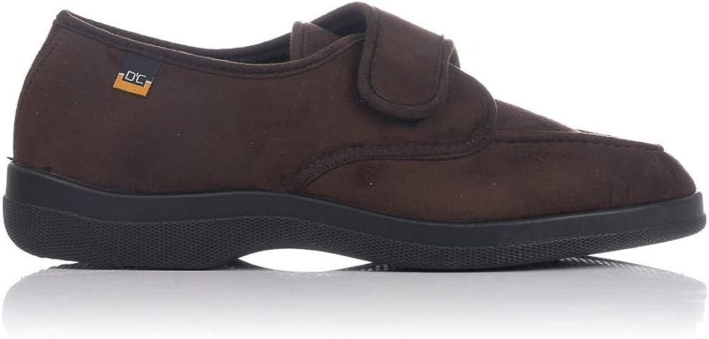Zapatilla Velcro pies Muy delicados Doctor Cutillas en marrón
