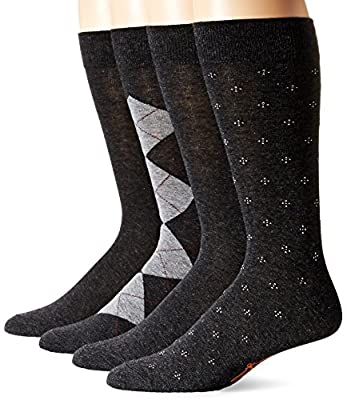 Dockers Men's 4 Pack Argyle Dress Socks