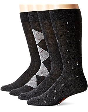 Men's 4 Pack Argyle Dress Socks