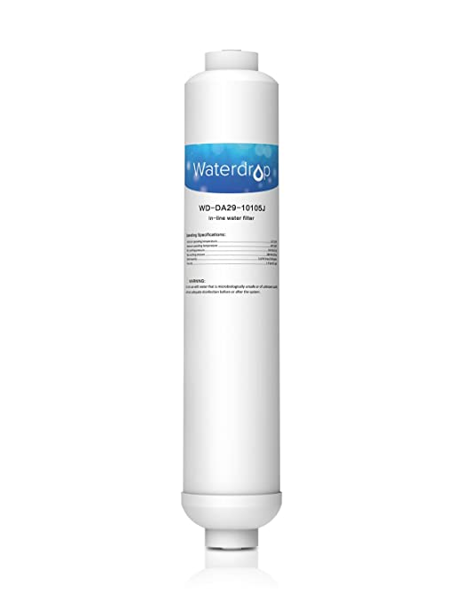 Waterdrop DA29-10105J Cartucho de Filtro de Agua en línea para Nevera/frigorífico - Samsung DA29-10105J HAFEX, DA99-02131B (Solo Externo), DA2010CB, ...