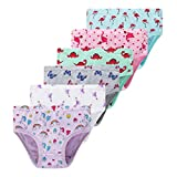 Winging Day Little Girls' Briefs Toddler Underwear Baby Soft Cotton Panties (Pack of 6)