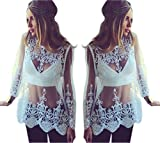 Moxeay® Embroidery Floral Lace Crochet Tee T-Shirt Top Blouse