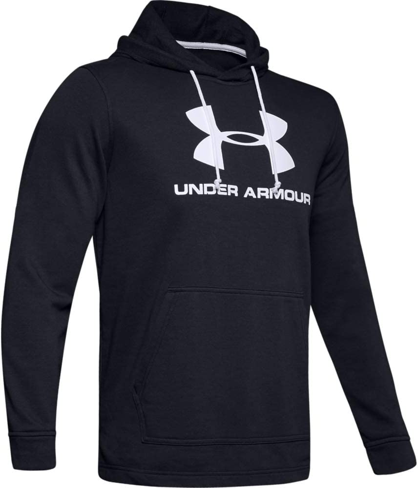 Under Armour Mens Sportstyle Terry Logo Hoodie Warm-up Top