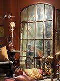 "82"" Antiqued WINDOW Arch MIRROR Wall or Floor Leaner XL"