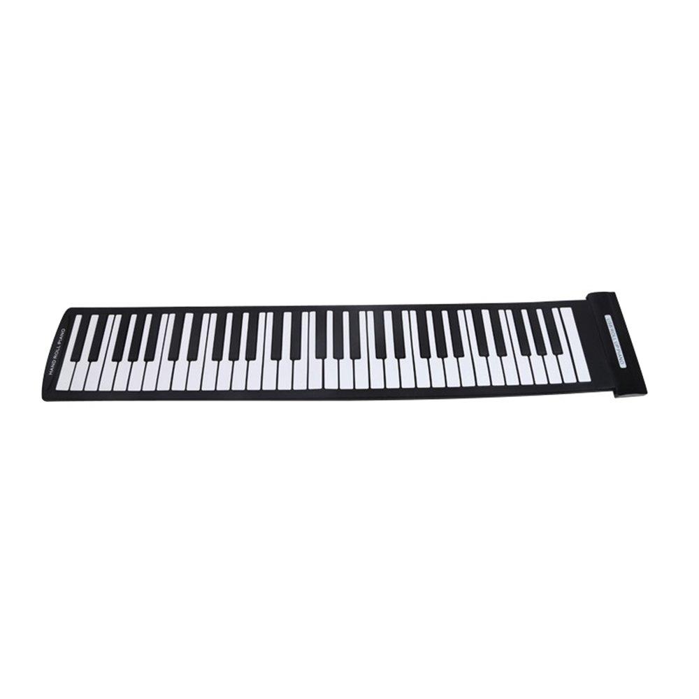 Andoer Portable 61 Keys Flexible Roll-Up Piano USB MIDI Electronic Keyboard Hand Roll Piano