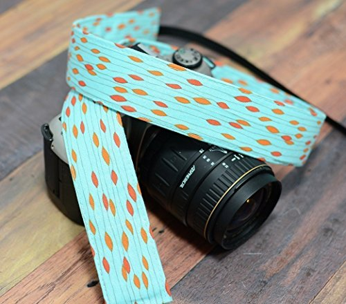 Orange and Teal - dSLR Camera Strap
