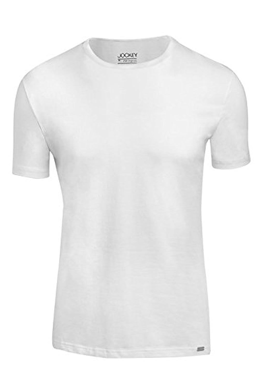 Jockey Crew Neck Shirt 4er Pack - Unterhemd in angenehm weicher Single Jersey Baumwoll-Qualität - black und white S bis 2 XL
