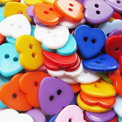 100 x daliuing boutons en forme de coeur chemise chemise boucle boutons pour bricolage artisanat tricot couture b/éb/é tissu accessoires 14-15 MM