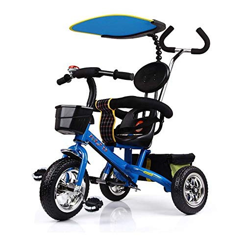 LXIANGP Children's Tricycle 1-6 Years Old Bicycle Stroller Child Stroller Multi-Function Baby Stroller for Boys and Girls Outdoor Shopping Practical