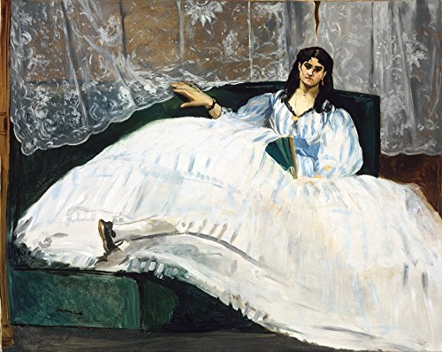 Berkin Arts Edouard Manet Giclee Canvas Print Paintings Poster Reproduction (Woman with a Fan) ()