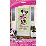 "Plastic Minnie Mouse Birthday Door Poster, 60"" x 27"""