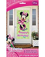 "Plastic Minnie Mouse Birthday Door Poster, 60"" x 27"""