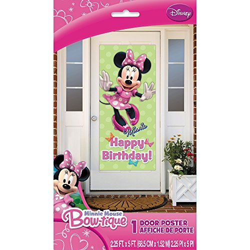 Disney Characters Costumes Ideas (Plastic Minnie Mouse Birthday Door Poster, 60