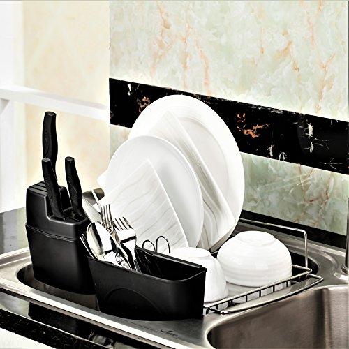 PremiumRacks In Sink Dish Rack - 304 Stainless Steel - Adjus
