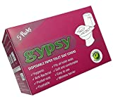 Gypsy Hygienic Disposable Paper Toilet Seat Covers 5 Packs (Each Pack Contains 10 Sheets)