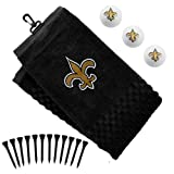 New Orleans Saints Official NFL 16 inch x 26 inch Golf Towel Gift Set