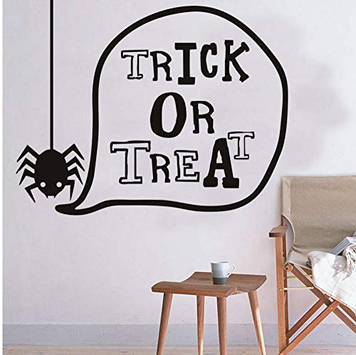 Trick Or Treat Lovely Spider Halloween Wall Stickers