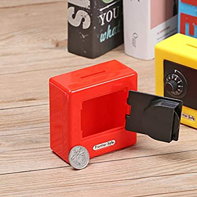 skonhed Piggy Bank Mini Safety Box Coin Saving Password Storage Code Lock Cash Safe Case (Blue): Toys & Games