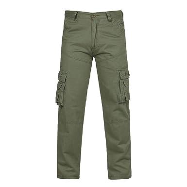 Hombre Pantalones Casual Largos,Pantalones de Hombre Color Liso ...