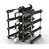9 NOOK Wine Rack - Easy 2 Step Assembly - No Hardware Required - Capacity: 12 Bottles