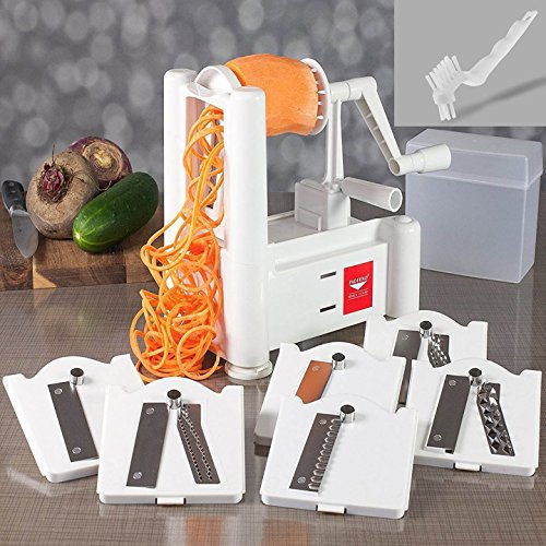 Buy Discount NextGen 6-Blade Spiralizer Bundle With Cleaning Brush