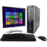 HP Elite 8000 Windows 8 Desktop Computer C2D 3.0 PC 4GB 500GB DVDRW WiFi 17 LCD