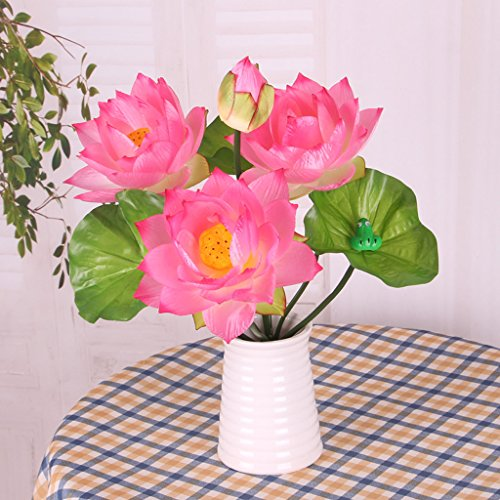 MonkeyJack-DIY-Wedding-Water-Lily-Silk-Flowers-Arrangement-Artificial-Lotus-Plant-Decor-Pale-Pink