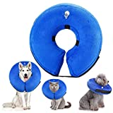 smalllee_lucky_store XCW0057-L Protective Inflatable Pet Collar, Blue, L
