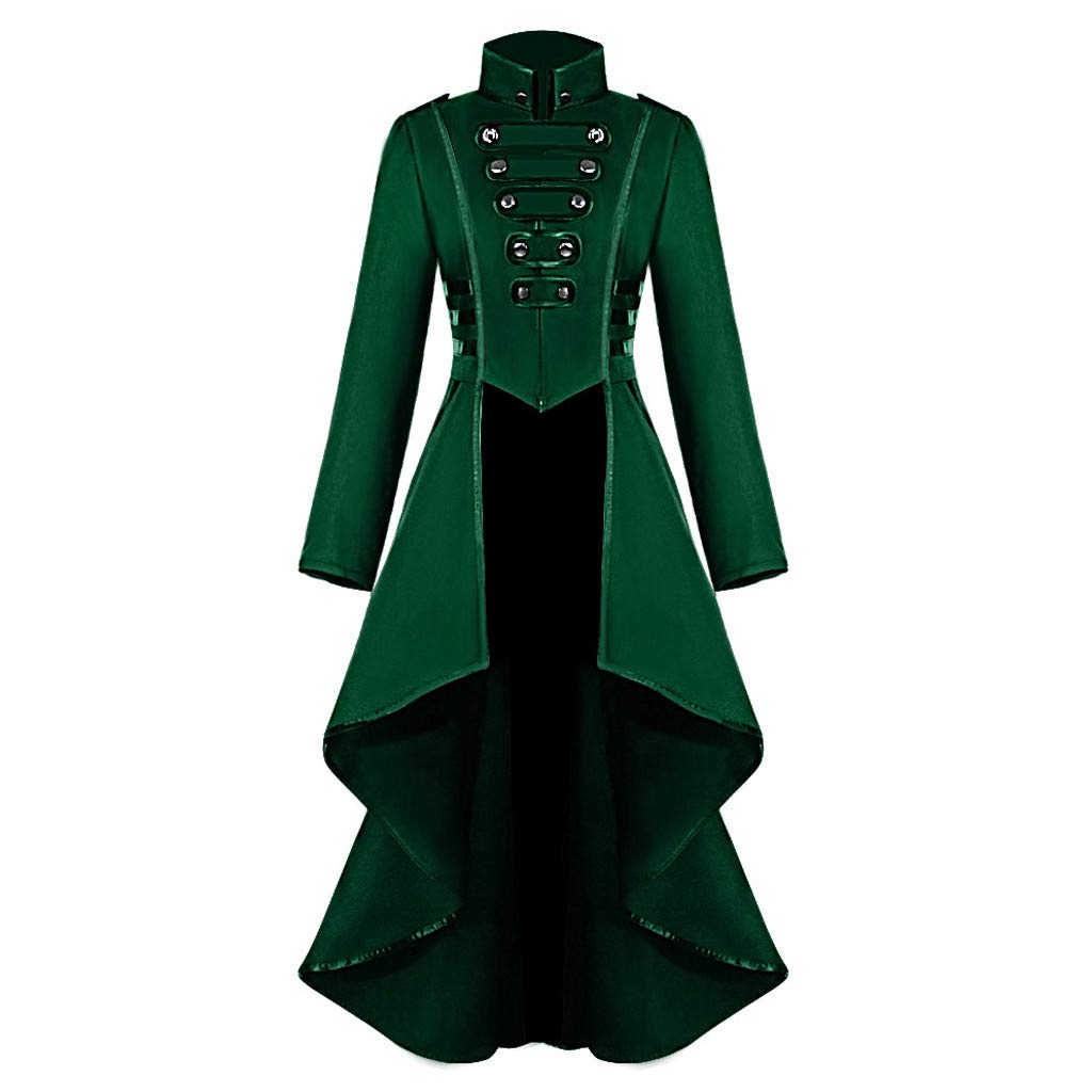 Women's Winter Vintage Gothic Tailcoat Long Sleeve Steampunk Jacket Tuxedo Coat Wedding Uniform Sopzxclim by Sopzxclim Womens